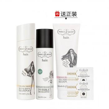 黑/金卡专享|佩妍丽亮泽洗发喷雾惠选套组