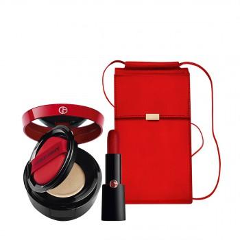 阿玛尼红黑管+红气垫惠选套装